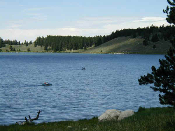 Meadowlark Lake at Big Horn Mountain Resorts along U.S. Highway 16.
